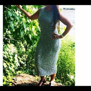 Black marble light weight dress